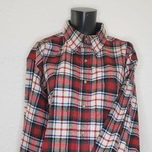 Pendleton Mens Wool Large Plaid Shirt Button Up